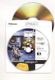 Fellowes CD/DVD Paper Envelopes - White (Box of 50)