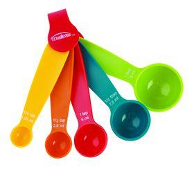Trudeau - Multi colour Measuring Spoon Set - 5 Piece