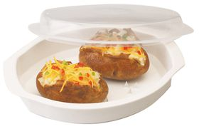 Progressive Kitchenware - Microwave Potato Cooker - Transparent