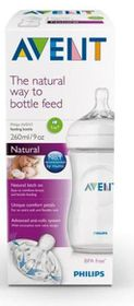 Avent - Natural Feeding Bottle - 260ml - Single Pack