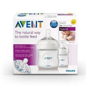 Avent - Natural Feeding Newborn Bottle - 125ml - Twin Pack