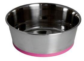 Rogz - Stainless Steel 550ml Slurp Bowl - Pink Base