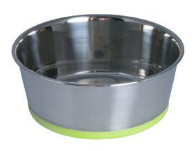 Rogz - Stainless Steel 1050ml Slurp Bowl - Lime Base