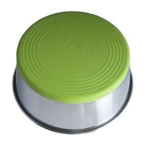 Rogz - Stainless Steel Slurp Dog Bowl - Large 1700ml - Lime Base