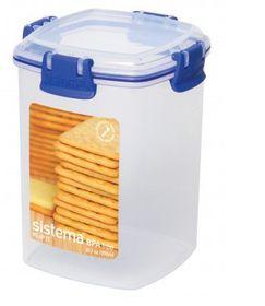 Sistema - Klip It - 900ml Cracker Storage Container - 11.1 x 11.1 x 14.2cm