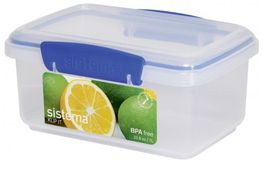 Sistema - Klip It - 1 Litre Rectangular Food Storage Container - 17.4 x 11.7 x 8.2cm