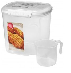 Sistema - Klip It - 2.4 Litre Bakery Storage Container With Cup - 17.6 x 13.2 x 17.4cm