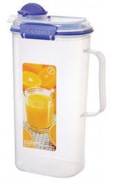 Sistema - Klip It - 2 Litre Juice Jug - 17 x 10.8 x 27.7cm