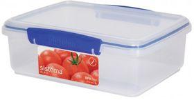 Sistema - Klip It - 2 Litre Rectangular Food Storage Container - 23.3 x 17.5 x 8.1cm