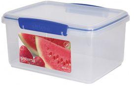 Sistema - Klip It - 3 Litre Rectangular Food Storage Container - 23.3 x 17.5 x 12cm