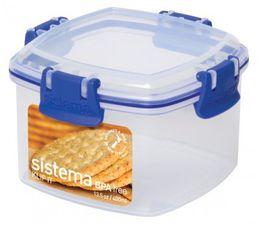 Sistema - Klip It - 400ml Cracker Storage Container - 11.1 x 11.1 x 7.2cm