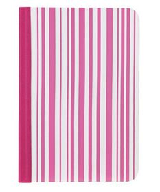 Ozaki iPad Mini Stripy Pattern Folio - Pink & White
