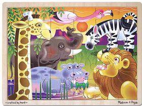 Melissa & Doug African Plains Wooden Puzzle - 24 piece