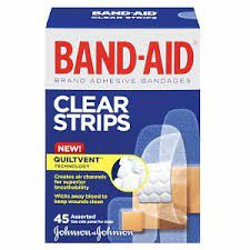 Band Aid Clear Strips 25