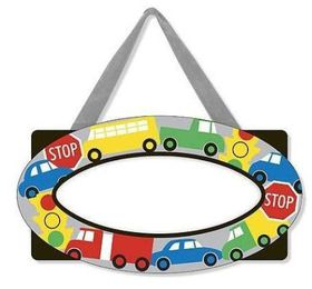 Melissa & Doug Decorate Your Own - Vehicles Door Plaque