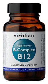 Viridian High Twelve Vitamin B12 with B - Complex Vegetarian Capsules (30)