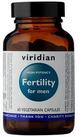 Viridian Fertility for Men Vegetarian Capsules (High Potency) - 60