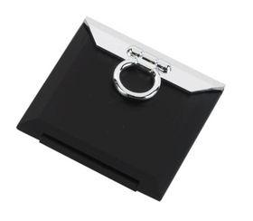 Cala Square Compact Pocket Mirror - Black
