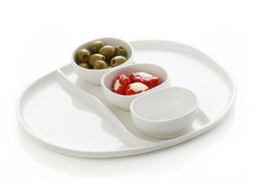 Maxwell and Williams - White Basics 4 Piece Oslo Dipping Set