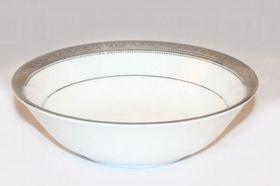Noritake - Signature Platinum Round Vegetable Dish - White and Platinum