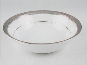Noritake - Signature Platinum Cereal Bowl 16cm - White and Platinum - 16 x 16 x 4cm