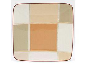 Noritake - Mocha Java Square Plate 18.9cm - White and Brown - (23 x 23 x 7cm)
