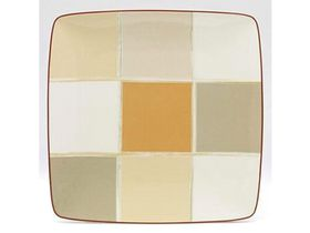Noritake - Mocha Java Square Plate 26.4cm - White and Brown - (28.5 x 28.5 x5cm)