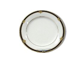 Noritake - Braidwood Bread Plate 16cm - White and Gold With Black Detail - 16 x 16 x 1cm