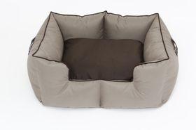 Wagworld - Medium K9 Castle Dog Bed - Camel & Chocolate