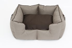 Wagworld - Extra-Large K9 Castle Dog Bed - Camel & Chocolate