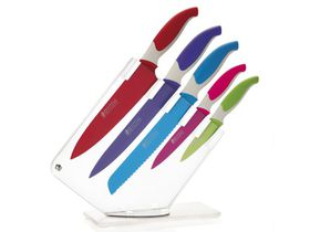Maxwell and Williams - Slice and Dice Knife Block Set Gift Boxed - Multi - 6 Piece