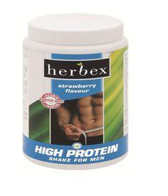 Herbex High Protein Shake For Men - Strawberry 450g