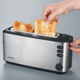 Severin Automatic Long Slot Toaster - Stainless Steel & Black (371mm x 182mm x 126 mm)