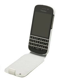 BlackBerry Q10 Flip Shell - White & White