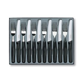 Victorino - 12 Piece Steak Knife Set - Black