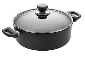Scanpan - Classic 3 Litre Low Sauce Pot With Lid - 24cm