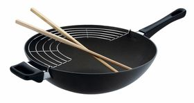 Scanpan - Classic Wok With Rack and Sticks - 36cm