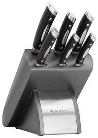 Scanpan - Classic 7 Piece Platinum Knife Block Set