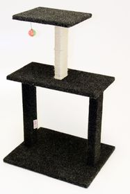 Scratzme - Kitty Condo Scratching Post - Grey & Charcoal