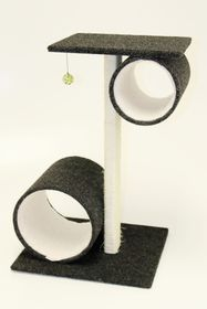 Scratzme - Hide Me 2 Scratching Post - Grey & Charcoal