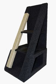 Scratzme - The Wedge Scratching Post - Grey & Charcoal