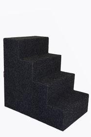 Scratzme - Doggy Aid 4 Steps Stairs - Grey & Charcoal