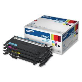 Samsung CLT-P407C CMYK Laser Toner Cartridges - Value Pack