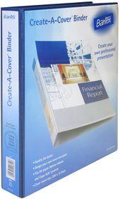 Bantex Create-A-Cover 2 D-Ring A4 30mm Ring Binder - Blue