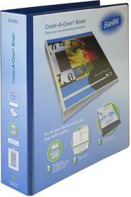 Bantex Create-A-Cover 4 D-Ring A4 50mm Ring Binder - Blue