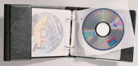 Bantex 2 Ring CD & DVD Wallet - Black