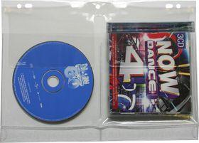 Bantex CD/DVD Filing Pockets - Clear (10 Pack)