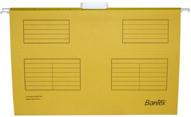 Bantex Suspension File Foolscap - Yellow (Pack of 25)