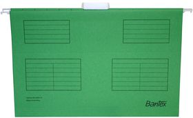 Bantex Suspension File Foolscap - Grass Green (Pack of 25)