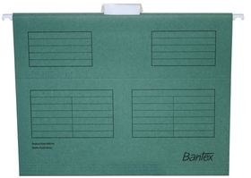 Bantex Suspension File A4 Retail Pack - Dark Green (Pack of 10)